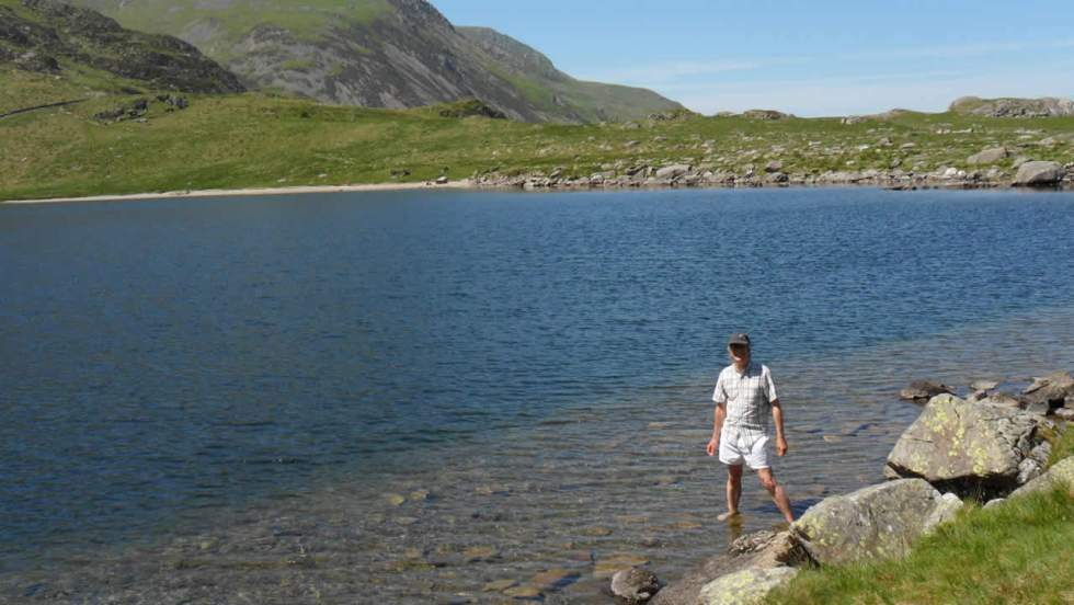 Keith by a lake in Snowdonia