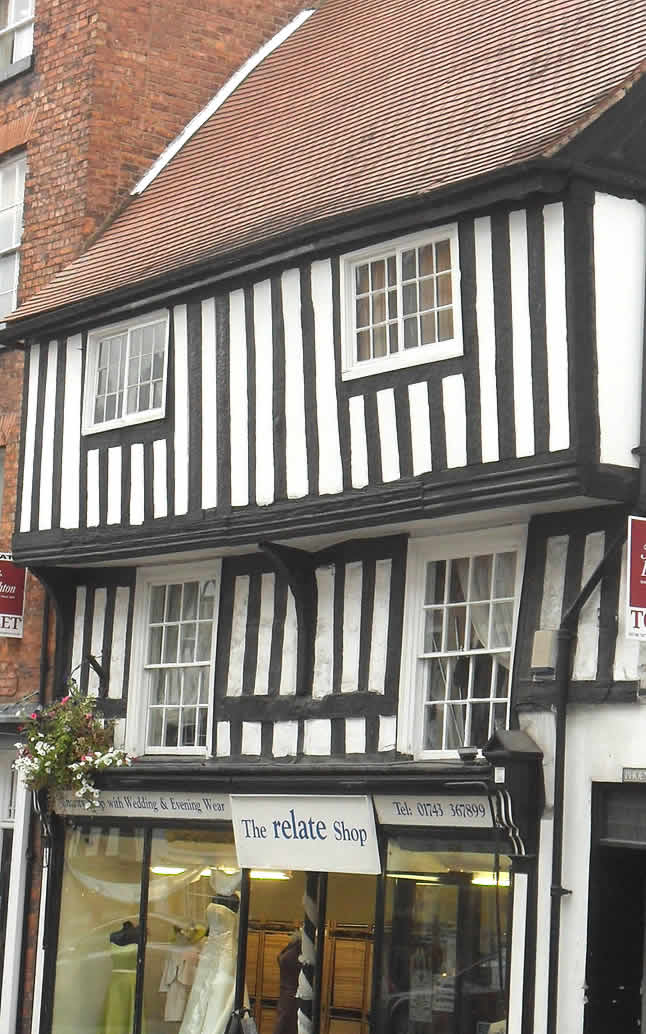 Half-timbered building in Shrewsbury
